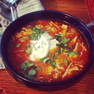 Amy's Chicken Tortilla Soup (photo from oh amy, dear!)